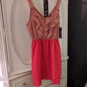 mossimo salmon and red dress
